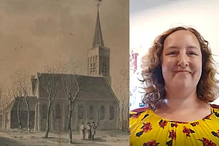 Museumdeur op een kier, 3 juni, Jeanette de Lange